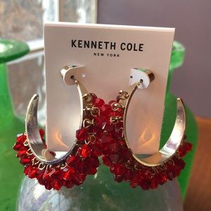 Kenneth Cole Faceted Bead Earrings